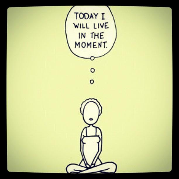 het is belangrijk om in het moment te leven tijdens mindfulness oefeningen