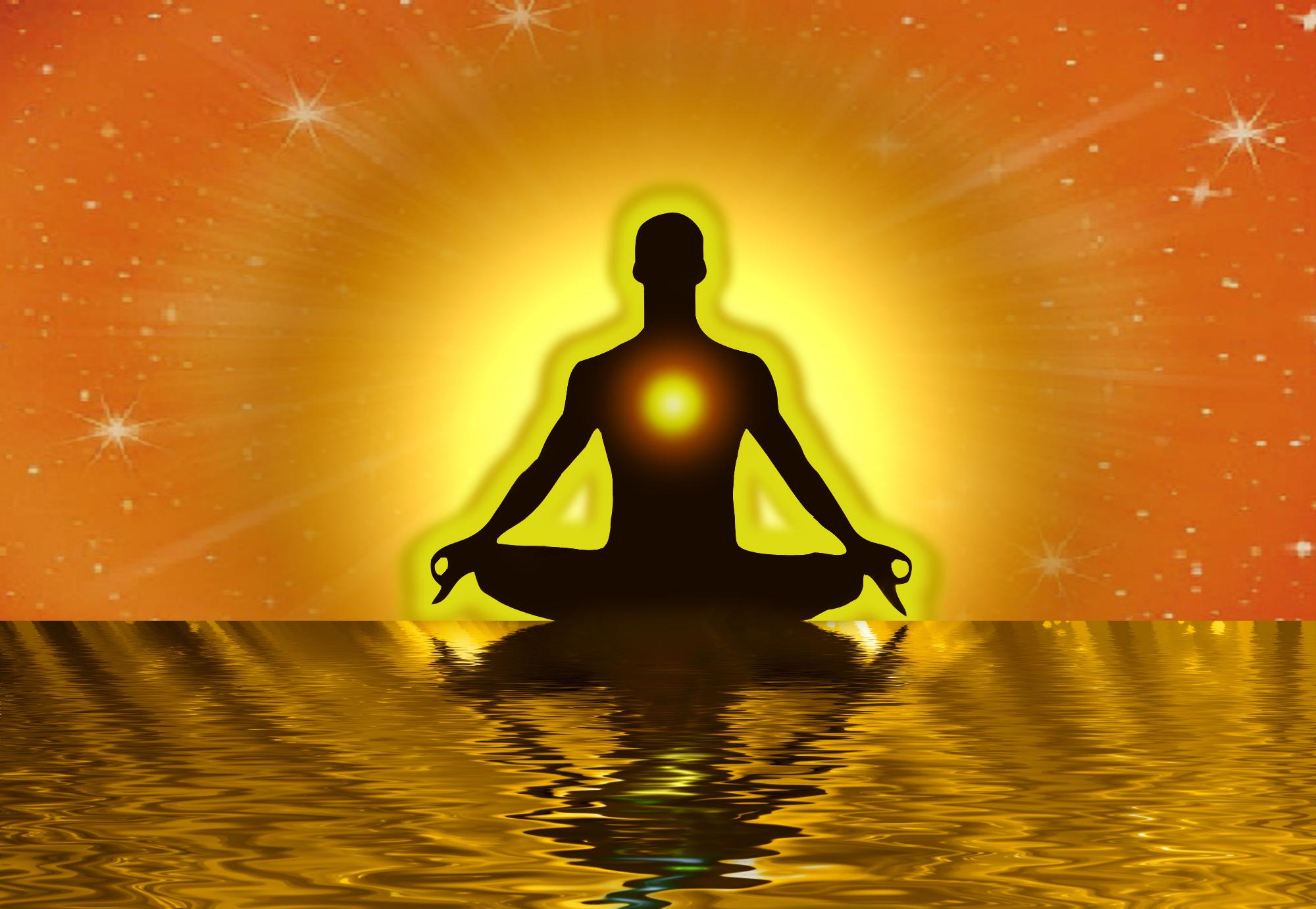 persoon aan het mediteren