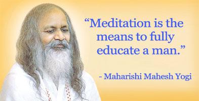 quote van maharishi over transcendente meditatie