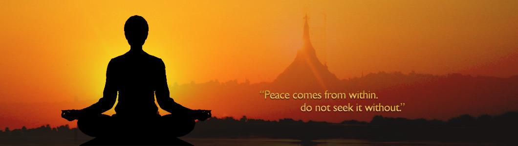 vipassana meditatie zorgt voor vrede van binnen