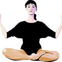 een meditatie houding