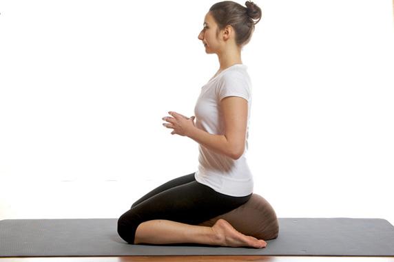 knielend mediteren